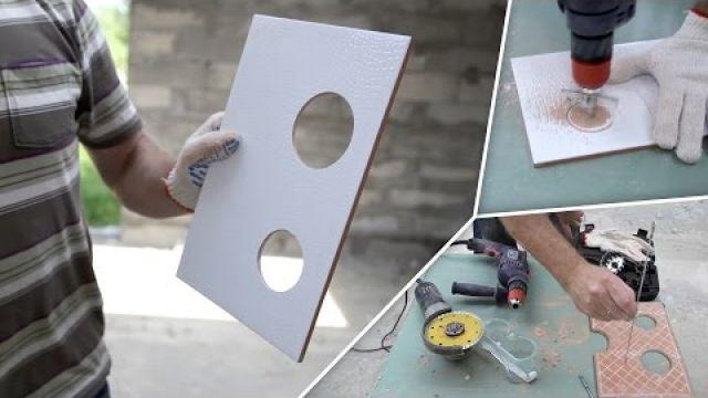Как сделать отверстия в плитке (5 простых способов)