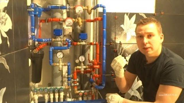 Процесс сборки водопровода в квартире