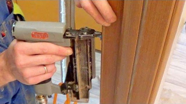 Как правильно установить наличники двери