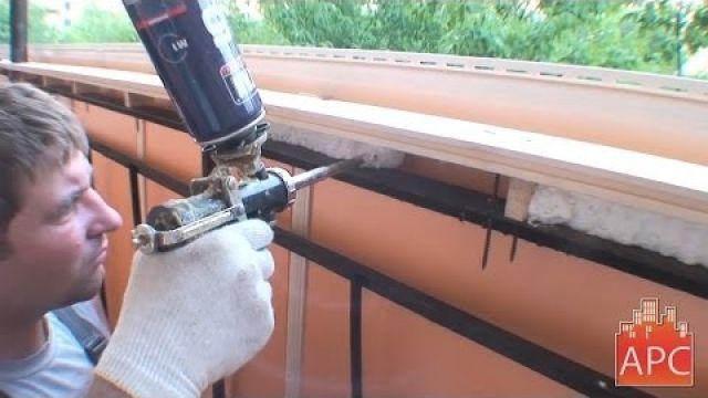 Утепление парапета балкона без пеноблоков